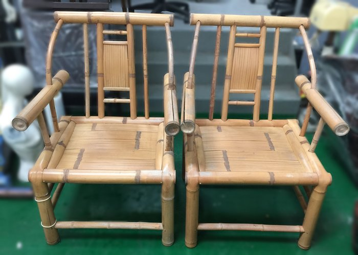 宏品二手家具 全新中古傢俱家電 F102905*竹製單人椅*二手桌椅 辦公桌 電腦桌書桌 台北桃園台中彰化