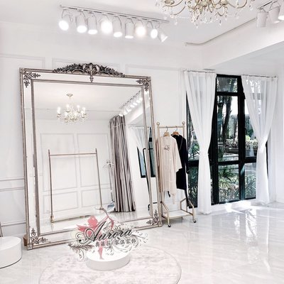 全身鏡 穿衣鏡 置地鏡 牆掛鏡 美髮鏡 美容鏡 玄關鏡 歐式 法式復古 雕刻花 風格 服飾店鏡