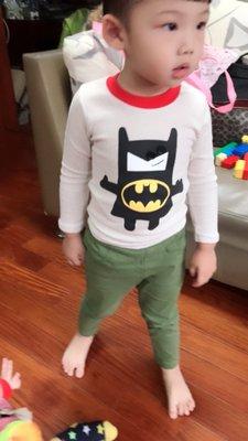 ~~BC5021~ 男 喳喳蝙蝠俠長袖T恤 2色     ~