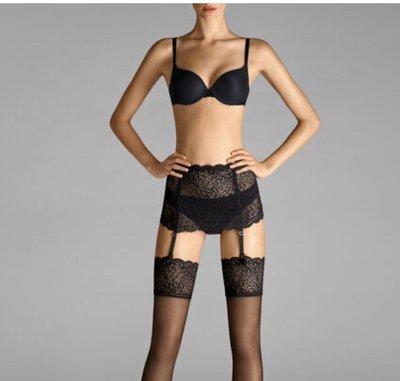 (Reserved) Wolford 全新真品極美黑色花朵蕾絲絲襪褲襪(2)