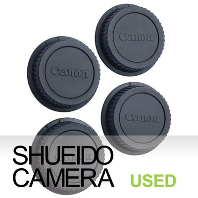 集英堂写真機【1個月保固】中古美品 / CANON 原廠 EF EOS 鏡頭後蓋 4枚 組合  #14 15843