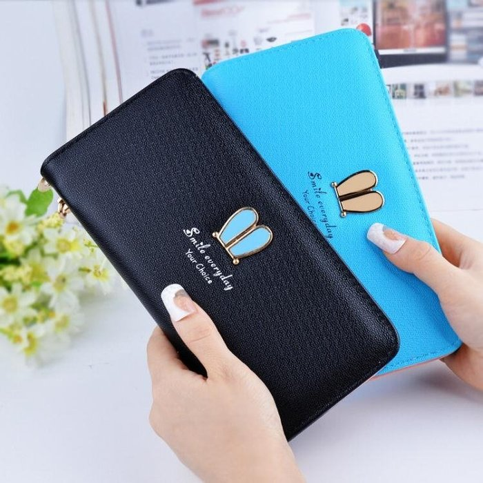 錢包女長款日韓版個性學生時尚手拿包小多功能迷你零錢袋