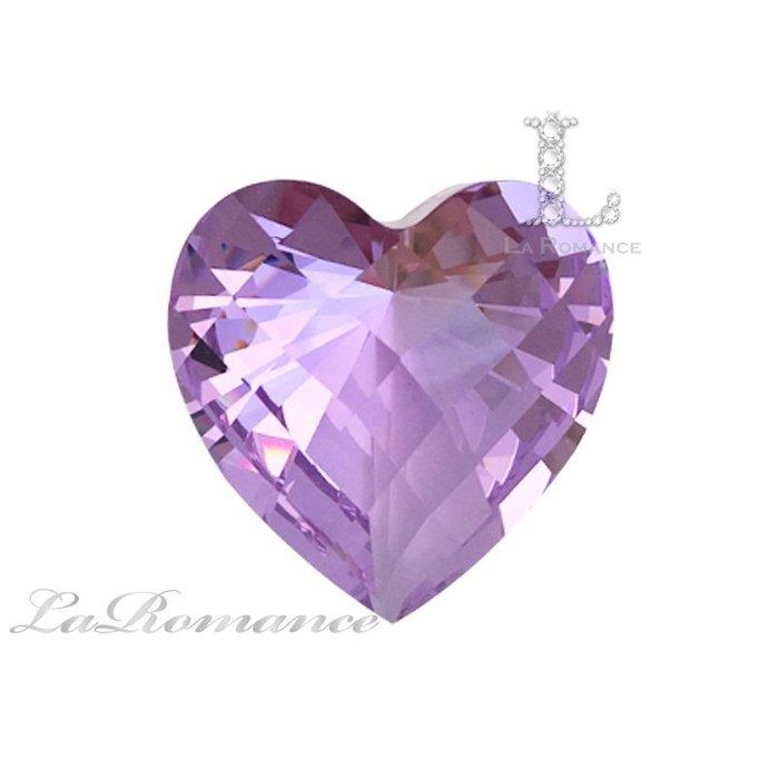【芮洛蔓 La Romance】璀璨心型水晶鑽 – 變彩紫 / 只賺不賠 / 開發智慧 / 愛的守護石 / 求婚