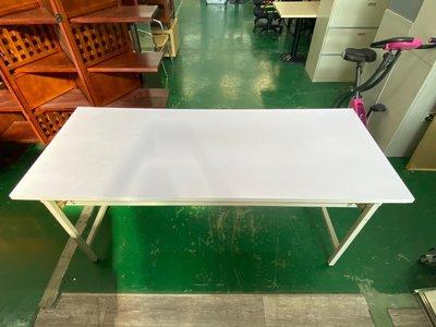 吉田二手傢俱❤全新白面板折合桌會議桌摺疊桌長桌多尺寸