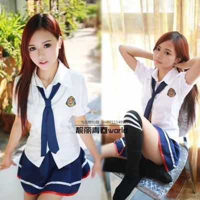 ☆女孩衣著☆日韓系版學生裝 清純可愛領帶學生制服校服套裝 寫真服表演出服(NO.30)