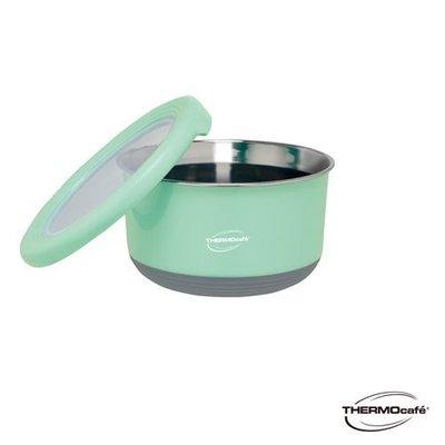 【THERMOcafe 凱菲】不鏽鋼多功能隔熱碗1.2L(TC-BOWL-LGR)淺粉綠, 可超取