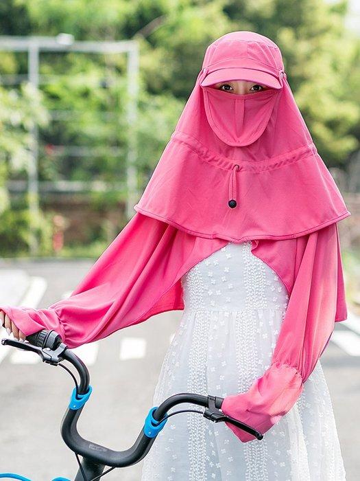 熱賣新品-遮陽帽女防曬帽戶外騎車遮臉騎電動車防紫外線太陽帽子女夏天出游#遮陽帽#防曬帽