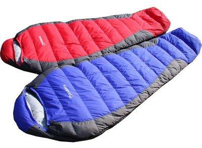 全新 SEAROCK 木乃伊式 -25度用 羽絨睡袋 白鴨絨保暖睡袋 極保暖超輕1500克