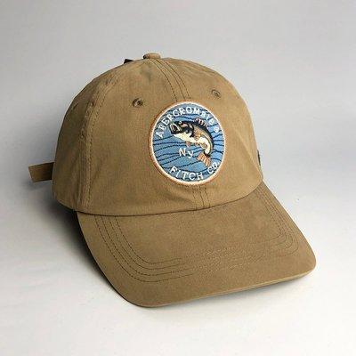 美國百分百【Abercrombie & Fitch】帽子 配件 老帽 AF 棒球帽 經典 麋鹿 Logo 卡其 H414 新北市