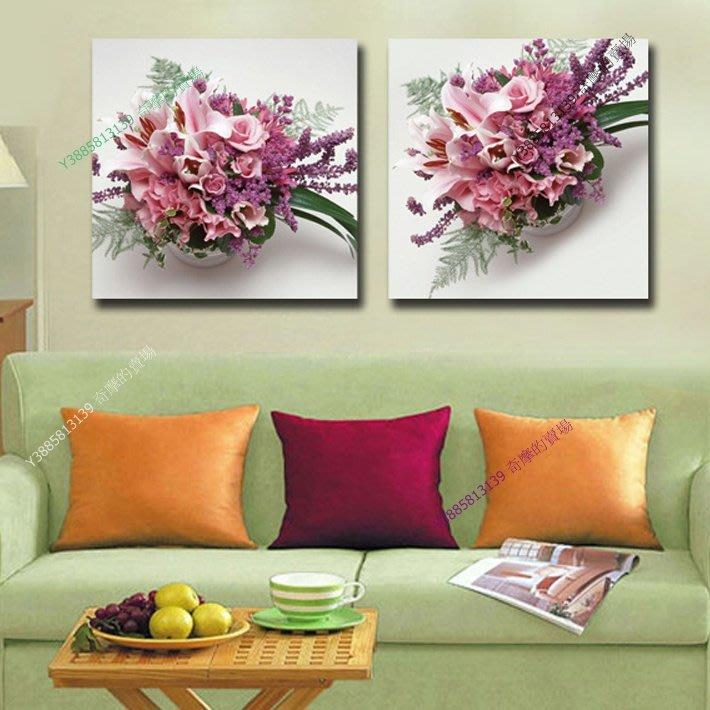 【40*40cm】【厚0.9cm】經典花卉-無框畫裝飾畫版畫客廳簡約家居餐廳臥室牆壁【280101_203】(1套價格)