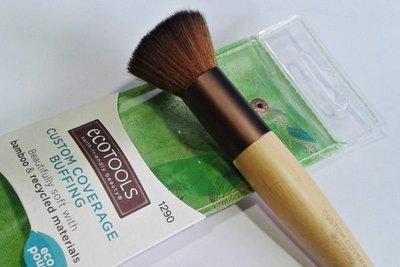 【愛來客 】美國直送~古銅色Ecotools Custom Coverage Buffing Brush 平頭化妝刷腮紅刷蜜粉刷