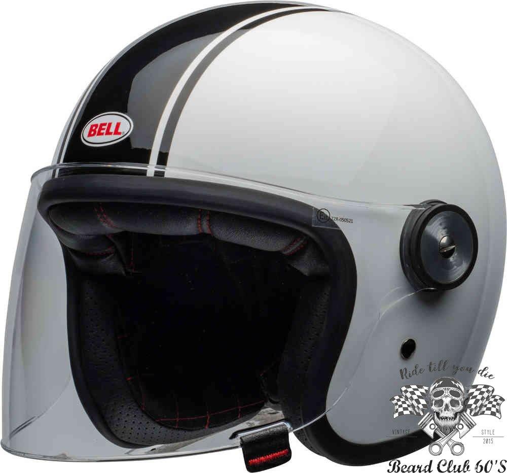 ♛大鬍子俱樂部♛ Bell ® Riot Helm Rapid 美國 原裝 經典黑白 Jet 安全帽