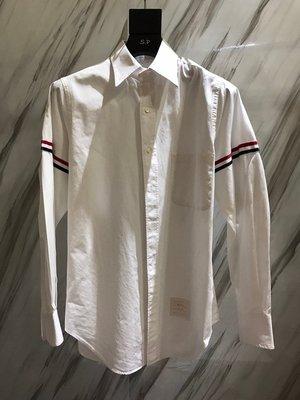 THOM BROWNE TB 經典 雙袖織帶襯衫 GD同款