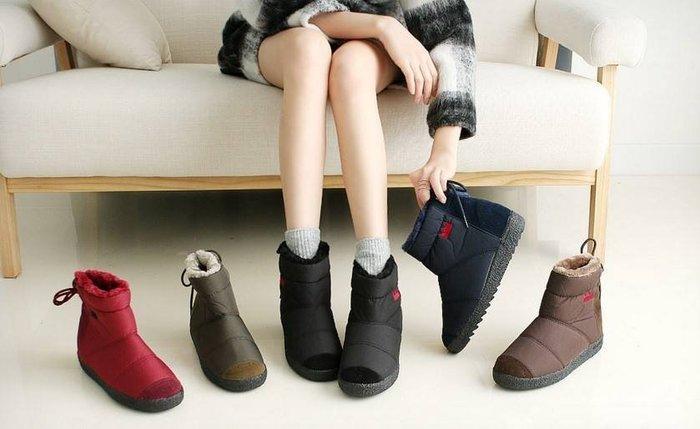 『※妳好,可愛※』 韓國皇冠雪靴類似ollie款親子防水靴子 短靴 親子鞋 輕巧防水短雪靴大人款