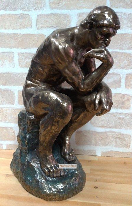 點點蘑菇屋 歐洲進口古典雕塑~羅丹創作沉思者雕像(大) 藝術品 著名雕像擺飾 現貨 免運費