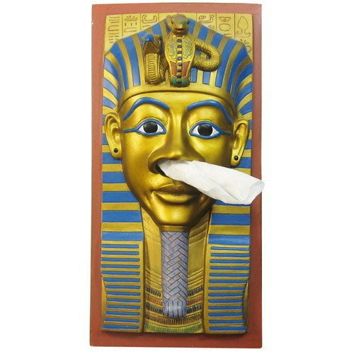 日本進口 埃及 法老王 圖坦卡蒙 面紙盒 衛生紙盒 可放於桌面或吊掛 情境擺飾 送人自用兩相宜