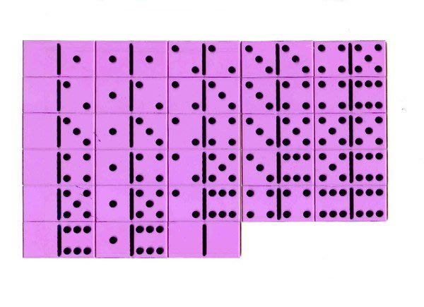 遊思樂 益智教具系列【U-bi小舖】壓克力-透明骨牌接龍28PCS(六點)
