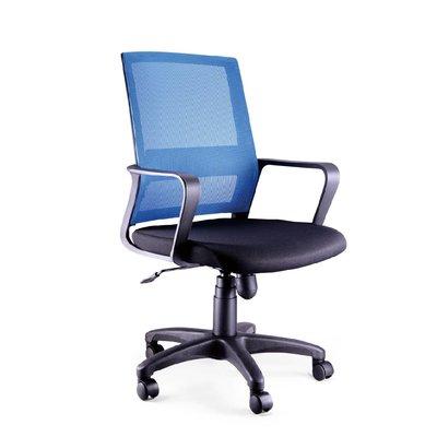 螞蟻雄兵 LV-192 網布辦公椅(藍色款) 電腦椅 職員椅 會議椅 電競椅 透氣耐坐 人體工學 辦公桌椅 椅子