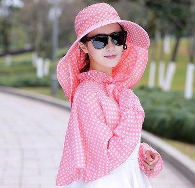 哆啦本鋪 遮臉遮陽帽子女防曬戶外大沿防紫外線太陽帽折疊出游百搭騎車 D655