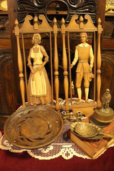 【家與收藏】特價稀有珍藏歐洲古典鄉村田園風格男女人偶浮雕壁掛擺飾
