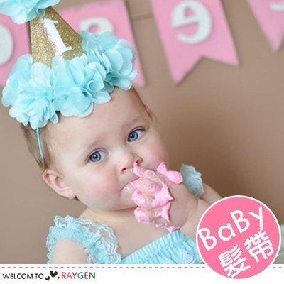 八號倉庫  髮飾 歐美女寶寶生日party金色花朵帽 髮帶【2Z014Z670】