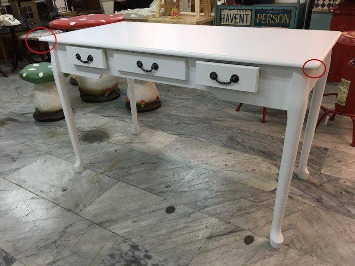 福利品A*大Blunt三抽書桌*$2390(歐風英式)北歐簡約小書桌電腦桌化妝桌白色韓風