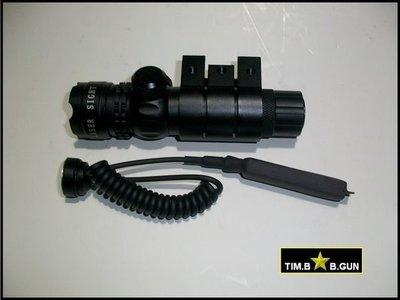 晶予玩具槍~日夜兩用綠光紅外線精密微調定位雷射瞄準器附寬軌夾使用鋰電池綠雷射(生存遊戲6MM BB槍全民槍戰CS)