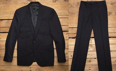 日本TETE HOMME羊毛劍領雙扣造型成套西裝SIZE 5號M號COMME CA DU MODE MEN TAKEO KIKUCHI SISLEY