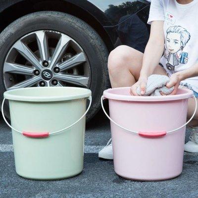 儲水桶塑料手提小水桶家用大號加厚洗衣桶子儲水桶洗車圓桶塑料桶洗衣桶   全館免運