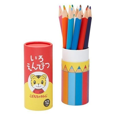 【三元】日本 benesse 巧虎 三角 色鉛筆 (12色)