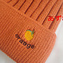 水果毛球系列- 單色直紋x雙層內絨毛- 橘...