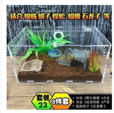 發現美 寵物飼養盒亞克力爬蟲箱蜘蛛蜥蜴守宮角蛙蛇蟒甲蟲302015爬寵盒 30*20*15