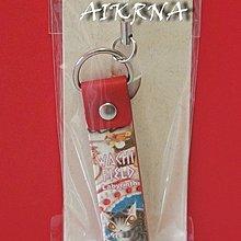 wachifield-dayan(瓦奇菲爾德,達洋)~全新限定品貓咪兔子彩繪真皮手機吊飾~甜點王國