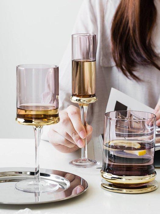 SX千貨鋪-歐式電鍍玻璃杯創意紅酒香檳杯家用葡萄酒杯家用高腳杯#玻璃杯#酒杯#水杯#茶杯#杯子套裝