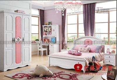 [ 紅蘋果傢俱 ] LOD-8825  兒童家具 單人床 兒童床 公主床 實木床 雙人床 床組 床架 數千坪展示