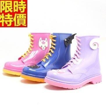 短筒雨靴子 雨具-甜美可愛靈動果凍色女雨鞋子3色66ak9[獨家進口][米蘭精品]