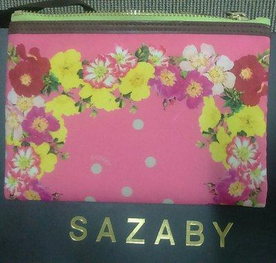 SAZABY包 化妝包/萬用小包 帆布材質 日本製 出清價~