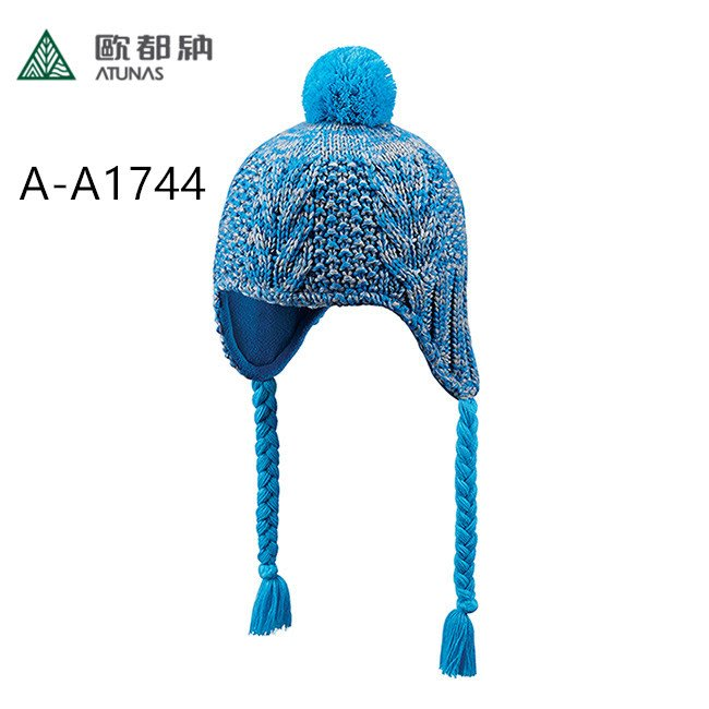 【登山屋】【歐都納 ATUNAS】輕盈羊毛針織保暖覆耳毛帽 A-A1744 桃紅 ,藍色