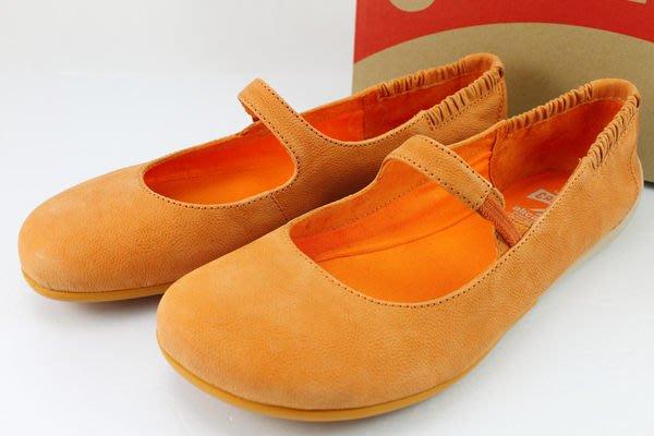 INDiCE ↗ CAMPER PEU 21721 皮革平底娃娃鞋 甜橘橙