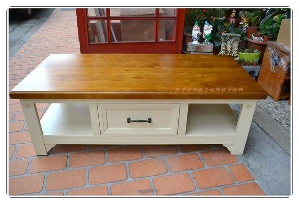 實木雙色白色(加大)133公分大茶几桌 鄉村風3種尺寸原木咖啡桌畫畫桌會議桌和室桌客廳桌現代風地中海風可訂製【歐舍傢飾】