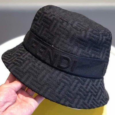 遮陽帽聯名迪奧萃新款F款漁夫帽女防曬遮陽刺繡字母logo明星同款盆帽男