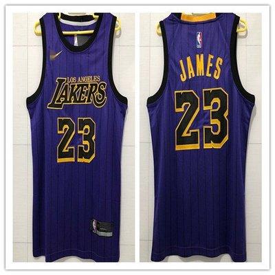 全號碼密繡 湖人隊23號LeBron James詹姆士 紫色城市版球衣 XXS碼~2XL碼 新北市