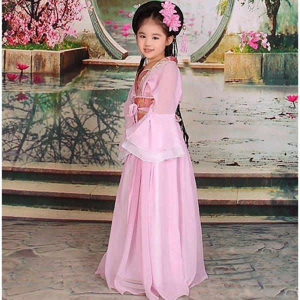 5Cgo【鴿樓】會員有優惠 20400023651 氣質兒童古裝 七仙女演出服仙女舞台表演演出服裝舞衣