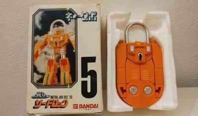 POPY 1984年 32年之產物 變形金剛版本 天威勇士 機甲錠人 (量最少 5 號機) 日版  超合金 鋼鎖