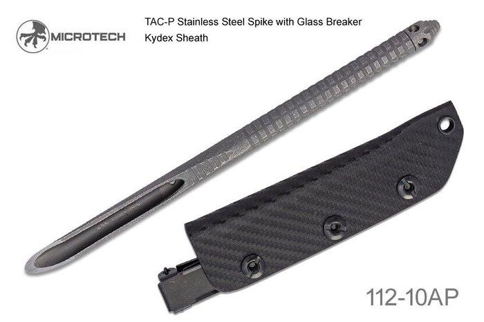 【angel 精品館 】Microtech TAC-P末日石洗處理410不銹鋼 (附鞘) 112-10AP