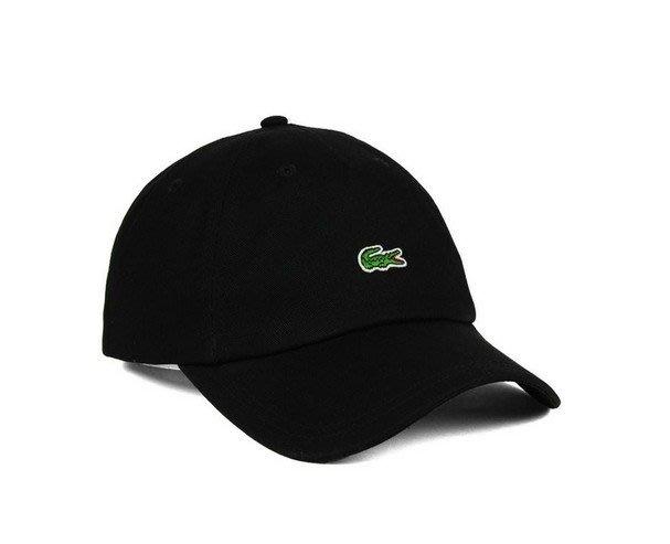 美國百分百【全新真品】Lacoste 鱷魚牌 帽子 棒球帽 網球帽 男 女 配件 刺繡 小LOGO 黑色 C897