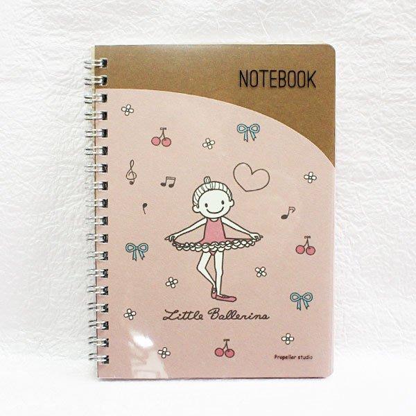芭蕾小棧生日畢業表演禮物日本進口Little Ballerina可愛文具舞者B6 SIZE膠圈筆記本50張入