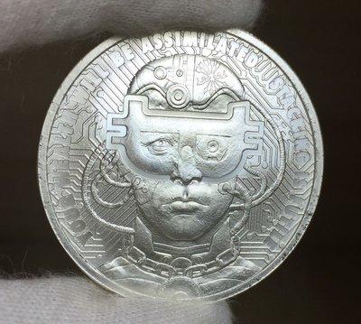 """2018 """"BorgCoin"""" 古堡機械人銀幣 (1 toz)"""