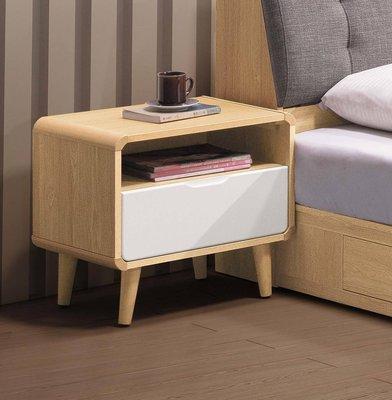 【生活家傢俱】SY-18-7※喬迪床頭櫃【台中3700送到家】床邊櫃 置物櫃 收納櫃 北歐風 白色烤漆 木心板 台灣製造