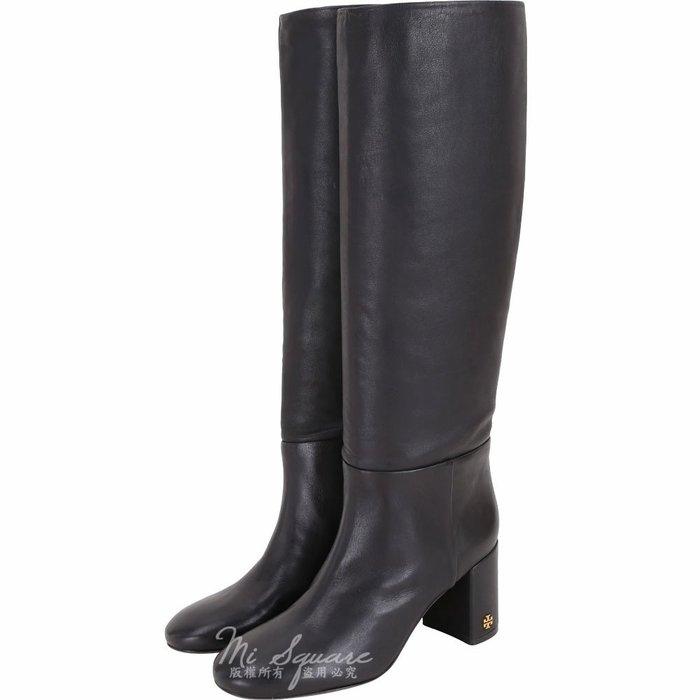米蘭廣場TORY BURCH Brooke Slouchy 納怕牛皮粗跟長靴(黑色) 1910054-01